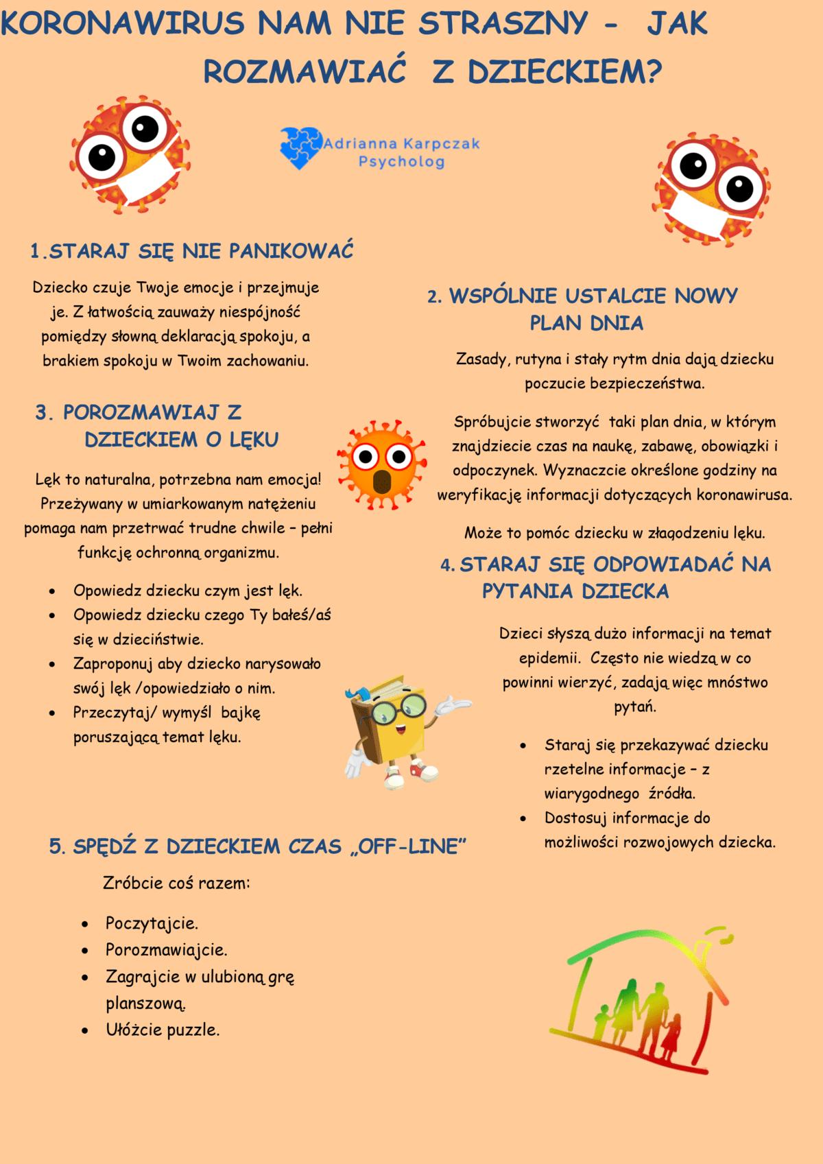 Koronawirus nie straszny jak rozmawiać z dzieckiem.